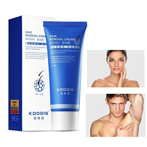 Unisex Haarentfernungs-Creme Schmerzloses Enthaarungsmittel Für Body Leg Achselhöhle Depilatory Cream Hair Removal Cream on Armpits Arms Legs 60g Molie
