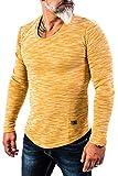 Rock Creek Herren Longsleeve Shirt Langarm Hoodie Sweatshirt Kapuzenpullover Langarmshirt Herrenpulli Street Style H-144 Senf XL
