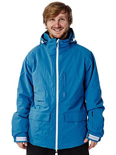 Light Herren Mens Jacket Foster Technical Outerwear, Faience Blue, S