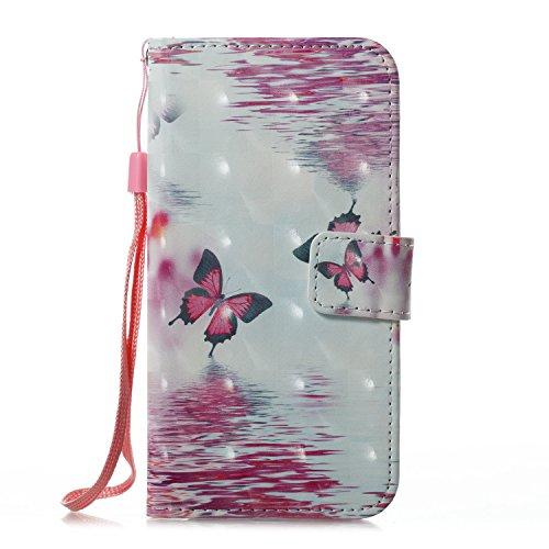 """Pour iPhone 7 Plus/iPhone 8 Plus 5.5"""",Coque Cas iPhone 7 Plus/iPhone 8 Plus 5.5"""" Swag Case,SKYXD 2017 Neuf 3D peinture colorée dessin peinture Peint Design original et élégant Mode Sensation Bumper et Deux papillons"""