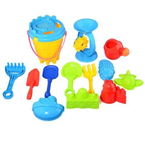 YAVSO Sandspielzeug, 25er Sandkasten Spielzeug Strandspielzeug mit Sandform, Eimer, Schaufel für Mädchen Junge Kinder Kleinkind Baby