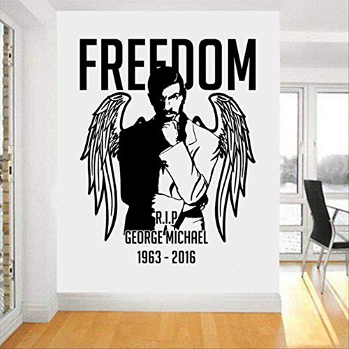 hzcl Vintage Home Decoration Wall Decal George Michael Wall Art Sticker Freedom Sticker Beding Room Poster Wall Stickers