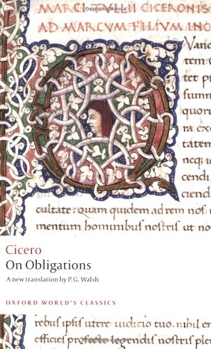 On Obligations: De Officiis (Oxford World's Classics) por Cicero