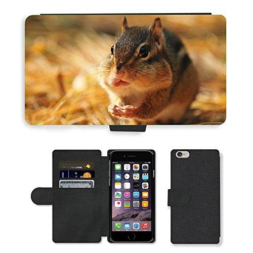 Just Mobile pour Hot Style Téléphone portable étui portefeuille en cuir PU avec fente pour carte//m00139215pour rongeurs automne écureuil sauvage/écureuil/Apple iPhone 6Plus 14cm