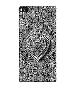 PrintVisa Designer Back Case Cover for Huawei P8 (Jaipur Rajasthan Tribal Azitec Mobiles Indian Traditional Wooden)