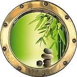 Sticker bocina el Ojo, diseño de Piedras Zen de bambú diámetro: Plafón H331, 20 x 20 cm