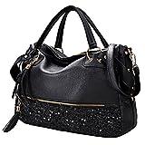 Handtaschen Damen,Coofit Damenhandtaschen Lederhandtasche Schultertaschen Henkeltaschen Umhängetaschen Tasche