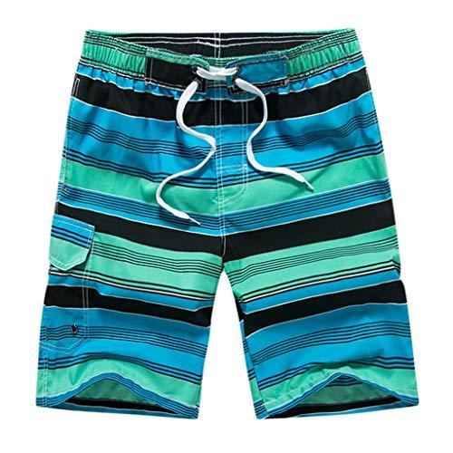 007474845985 ODJOY-FAN Costume da Bagno Uomo Coulisse Regolabile Asciugatura Rapida  Pantaloncini Spiaggia Corti Stampato Donna