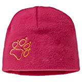 Jack Wolfskin Unisex - Kinder Mütze Fleece, azalea red, One Size