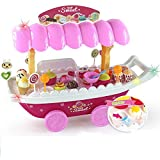 Sweet Luxury Ice Cream Parlour Candy Car Set With Soft Light And Sound For Kids(HCCD Enterprise) (Pink Car)