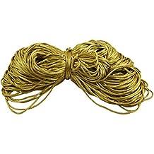 Cadena de cola de rata Kumihimo de nylon 2 mm nudo trenzado de cable de rebordear la joyería de bricolaje 9 yardas