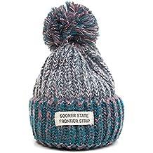 MIOIM® Mujer Gorros de Lana de Invierno Sombreros de Punto Sombrero Skullies Velvet Tejer Caliente Cap Sombrero