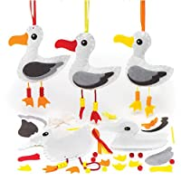 Baker Ross Seagull Sewing Kits (Pack of 3) for Kids To Make
