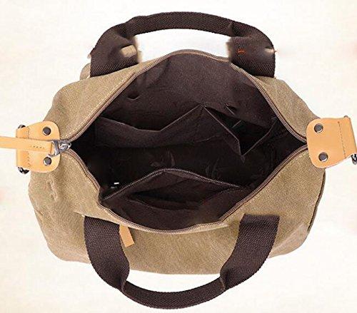 Schulterbeutelhandtasche Kurierbeutel-Segeltuchbeutel Große Kapazität Weibliches Paketpostpaket Purple