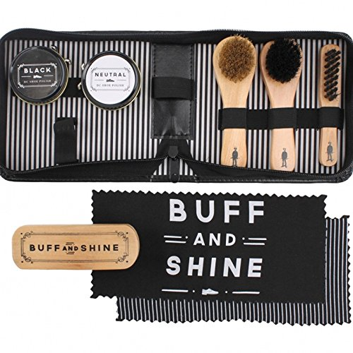 Product Image of The Dapper Chap 'Buff & Shine' 8-Piece Shoe Cleaning Kit