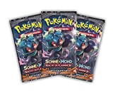 Sun and Moon Night In Flames Design Pokemon 3Booster Packs/Set–English Edition