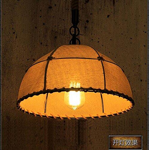 ZQ@QXDesign moderno elegante cucina soggiorno lampadario pranzo Lampada pendente con paralume tessuto a mano