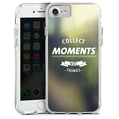 Apple iPhone 8 Bumper Hülle Bumper Case Glitzer Hülle Moment Sayings Phrases Bumper Case transparent