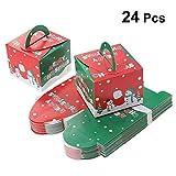 YeahiBaby Scatola Biscotti Natale in Carta per Decorazione Natale 24pcs