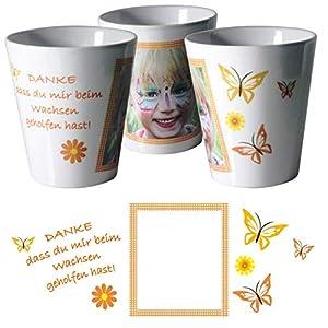 Blumentopf mit Foto als Geschenk für Tagesmutter/Kindergärtnerin