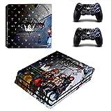 Playstation 4 Pro + 2 Controller Aufkleber Schutzfolien Set - Kingdom Hearts (3) /PS4 P