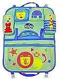 HAPPY PEPI Custodia schienale per auto Protezione schienale Multi-bag in avorio/blu