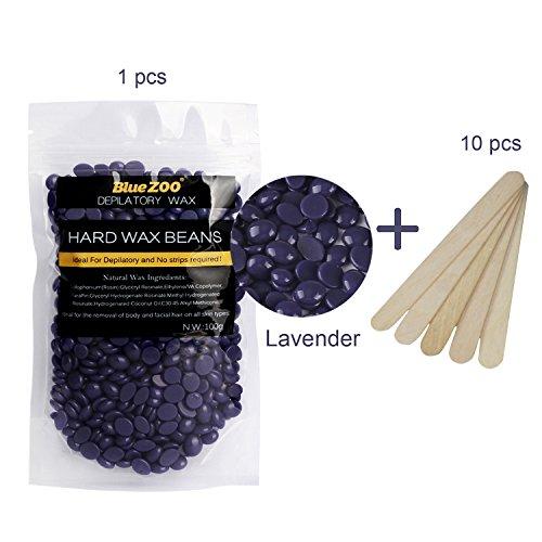 Arm-haar-wachs (Bluezoo Haarentfernung Wachsbohnen, Halicer Heisswachs Für Intim, Beine, Arme und Gesicht Haarentfernung für zuhause 100g lila …)