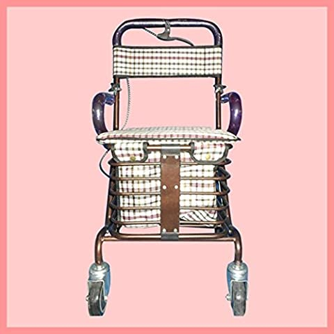 Shopping Cart metallo anziani pieghevole Leisure supermercato Shopping Cart Walker
