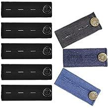 GreeStore - Juego de 8 extensores de botones de cintura para pantalones y pantalones de embarazo