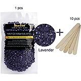 Haarentfernung Wachsbohnen, LuckyFine Heisswachs Für Intim, Beine, Arme und Gesicht Haarentfernung für zuhause 100g lila