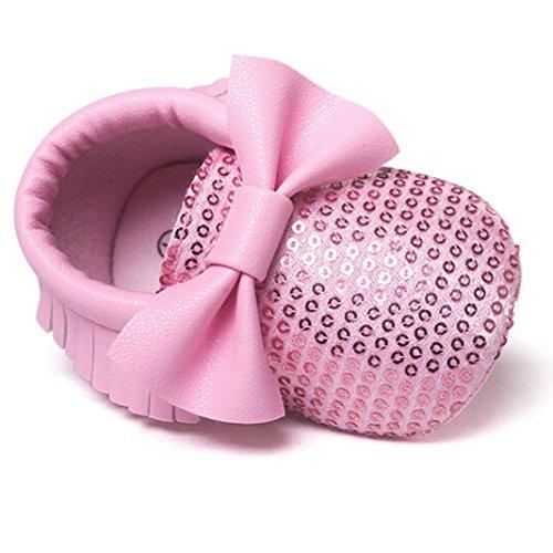 winwintom Baby Quasten Schleife Casual Schuhe rose