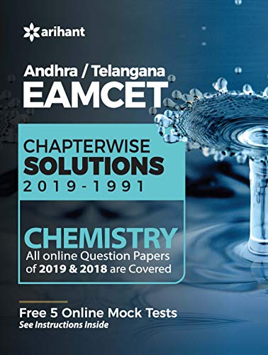 EAMCET Chemistry Andhra and Telangana Chapterwise 28 Years' Solutions and 5 Mock Tests 2020