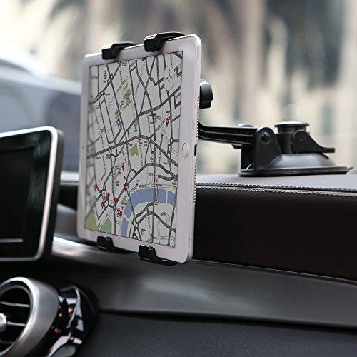 """POMILE Tablet Halterung Auto Saugnapf iPad GPS Halterung Auto Verstellbare für tragbare Apple iPad Air / Mini, Samsung Galaxy Tab, Kindle Fire, 7"""" ~ 12"""" Tablets"""