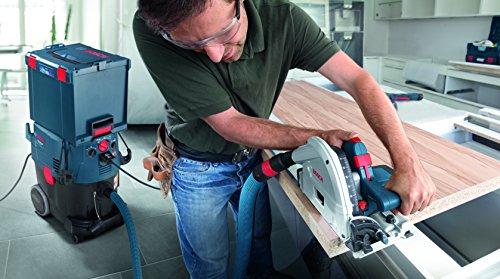 Bosch Professional Tauchsäge GKT 55 GCE, Kreissägeblatt Best for Wood, 1400 Watt-Motor, 165 mm Saägeblattdurchmesser, L-Boxx, 1 Stück, 0601675001 - 6