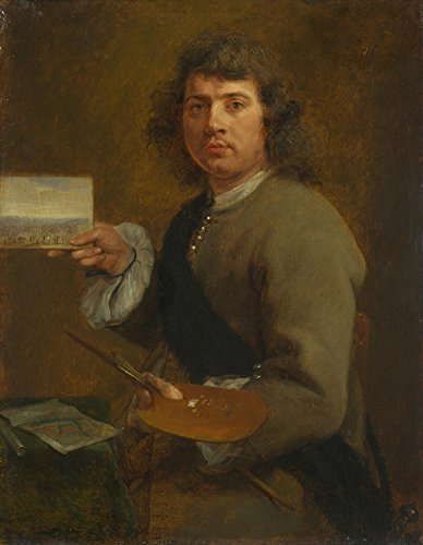 Das Museum Outlet-Gonzales Coques-Sight (Portrait Of Robert van den Hoecke), gespannte Leinwand Galerie verpackt. 29,7x 41,9cm
