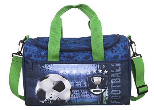 Fußball Schulranzen Set 10tlg. Sporttasche, Schultüte 85cm, Federmappe, Regen/Sicherheitshülle gelb Scooli FCPR8251 - 3
