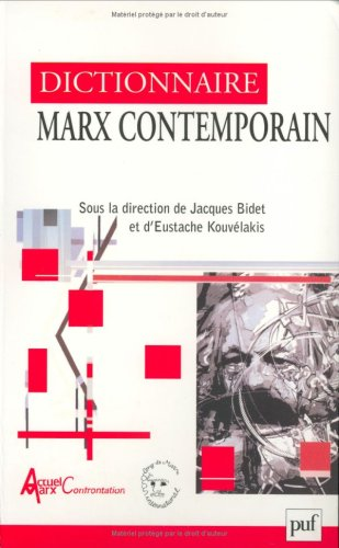 Dictionnaire Marx contemporain par