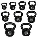 Body Revolution Cast Iron Kettlebell - Strength Training Home Gym Equipment