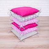 Amilian Baby Nestchen Bettumrandung 210 cm Design2 Bettnestchen Kantenschutz Kopfschutz für Babybett Bettausstattung