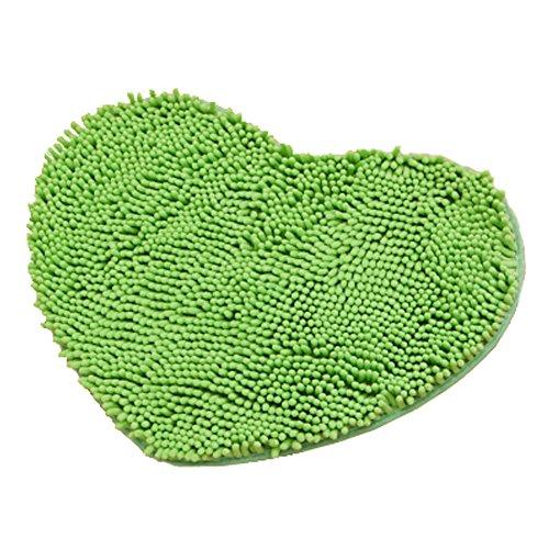 Rabatt Geflochtene Teppiche (Super Soft Chenille Herzförmige Schlafzimmer Teppich Tür Matte Teppich Grün)