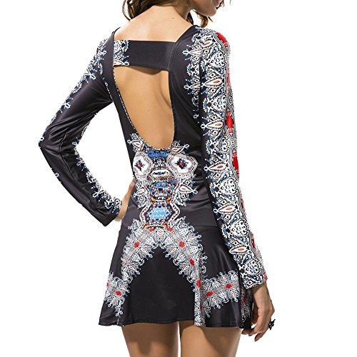 Ksweet Vestitino a pieghe con cut-out sulla schiena Vestito a pieghe con maniche lunghe