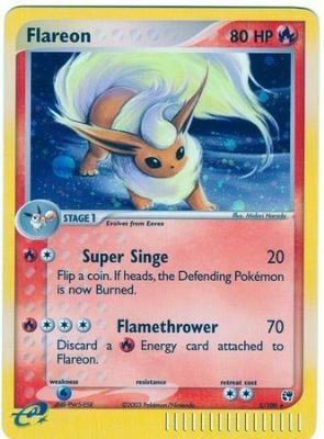 Flareon - EX Sandstorm - Holofoil - 5 [Toy]
