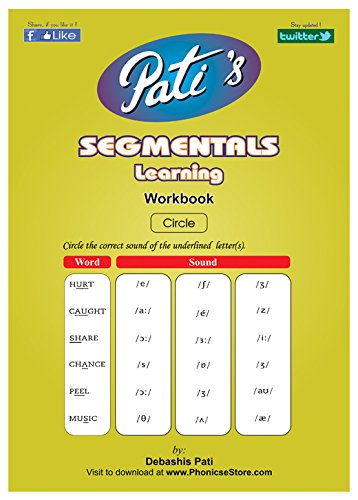 Pati's Segmental Learning work book for jolly kids - Spelling Bee help - English Phonetics learning