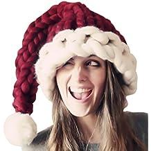 ROBO Navidad Cap Gorro Invierno Chamarra de Punto con Cola Largo Hecho a  Mano a520262b457