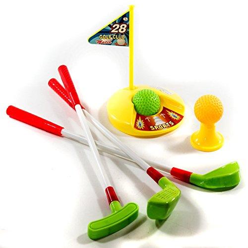 Golf Set für Kinder mit Driver, Putter und Chipper, Loch mit Fahne, 2 Bälle & 1 Abschlag- Tee , Minigolf Spielzeug Golfset Golfspiel Kinder ... -