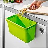 TRI Schranktürbox Clever Ablage Hängebox Abfallbox Hängekasten Küche Komposteimer schraubenlos apfelgrün Mülleimer Schrank