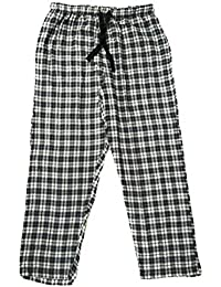 Twist Men's Grey And White Checked 100% Cotton Pyjama Sleepwear Night Wear With Contrast & Free Shipping