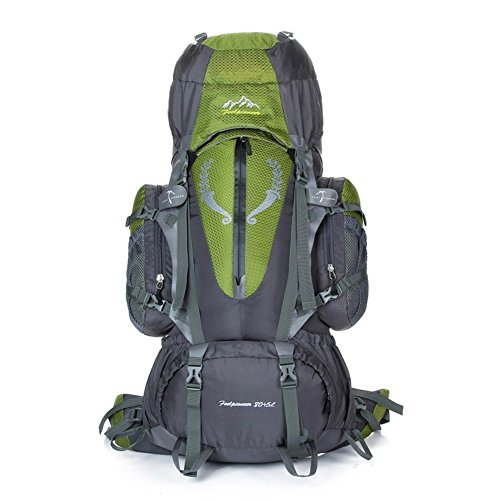Sincere® Package / Sacs à dos / Portable / Ultraléger Grande capacité alpinisme sac à dos / sports de plein air / sacs / sac à dos de camping 80L-90L ArmyGreen
