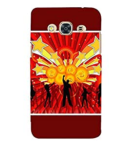 For Samsung Galaxy J3 Pro :: Samsung Galaxy J3 (2017) gymnastics shield vector background, vector background, abstract Designer Printed High Quality Smooth Matte Protective Mobile Case Back Pouch Cover by APEX