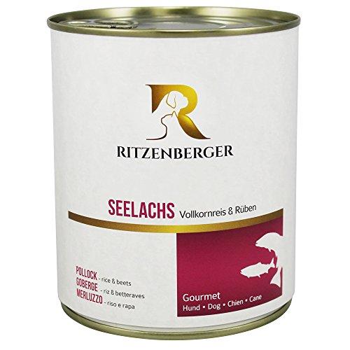 Ritzenberger, cibo per cani, Merluzzo - riso e rapa, 6 x 800g, Gourmet